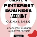 Business Account for Pinterest
