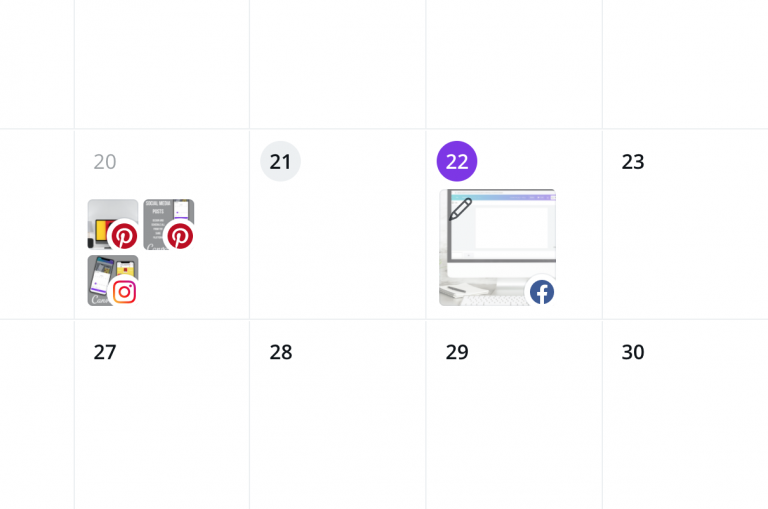 Draft post in Content planner