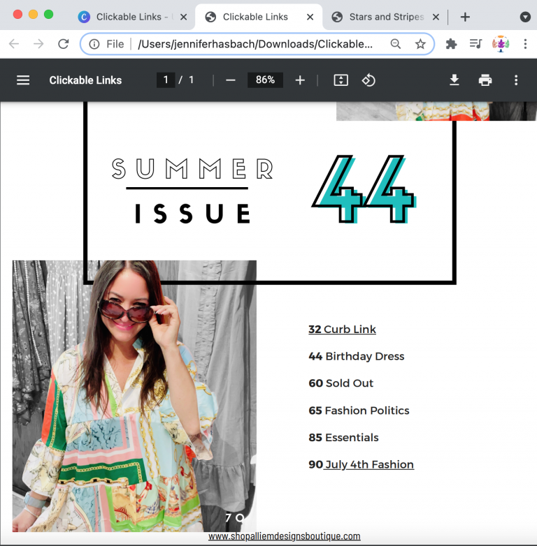 clickable link in Canva