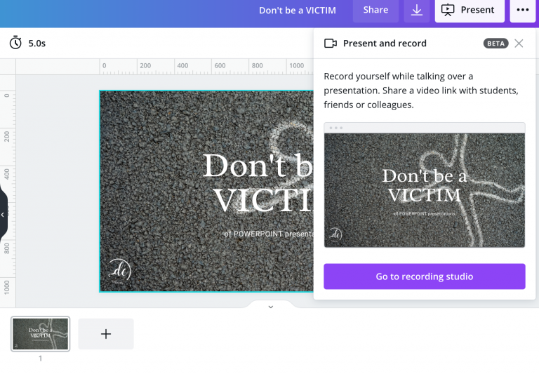presentations with canva